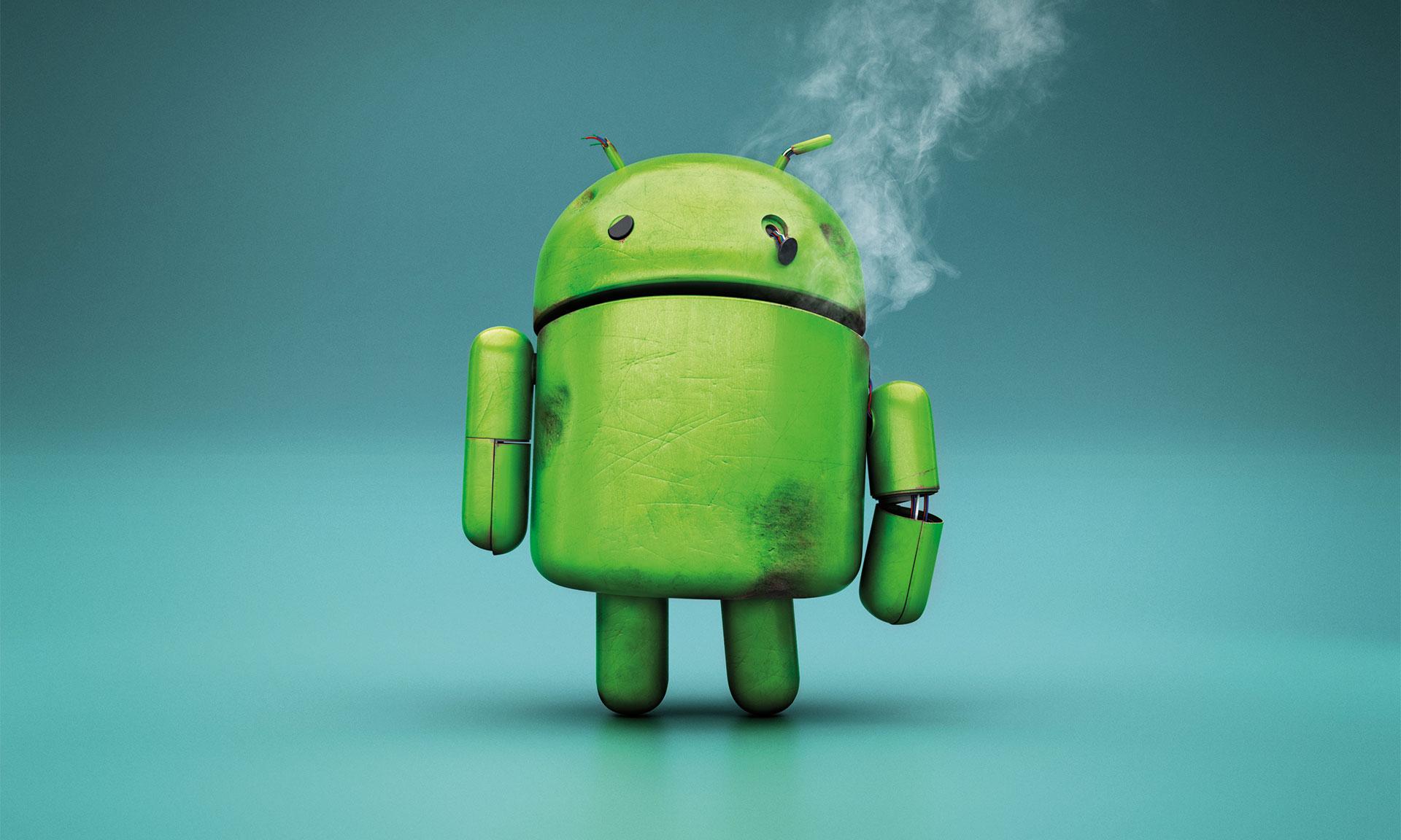 Android,Android eksi yönleri,Android hataları